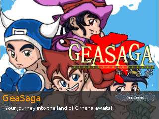 GeaSaga, an indie RPG game for RPG Maker 95
