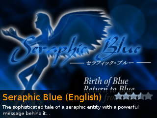 Seraphic Blue (English), an indie RPG game for RPG Tsukuru 2000