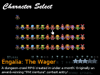 Engalia: The Wager, an indie RPG game for RPG Tsukuru 2003