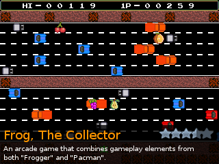 Frog, The Collector, an indie Action game for RPG Tsukuru 2003