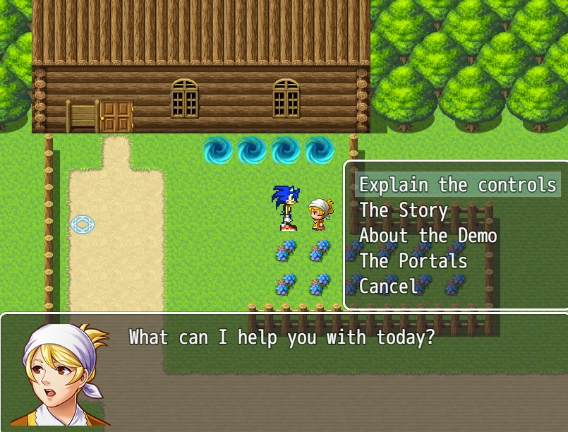 Sonic RPG MV Images :: Sonic talking to an npc who has info