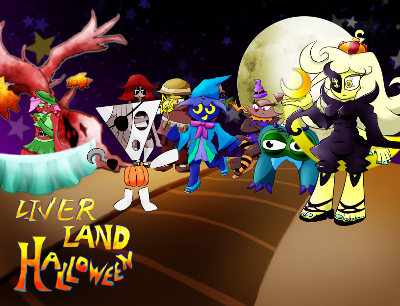Liver Land Halloween Images :: Title Screen (Early Version