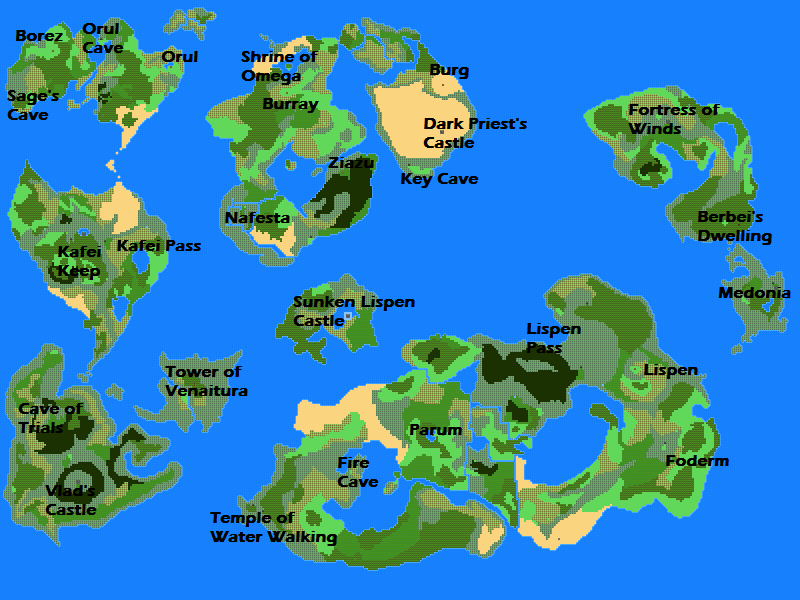 Dragon Fantasy: Heroes Of Tsufana Images :: World Map (Complete) ::  Rpgmaker.net