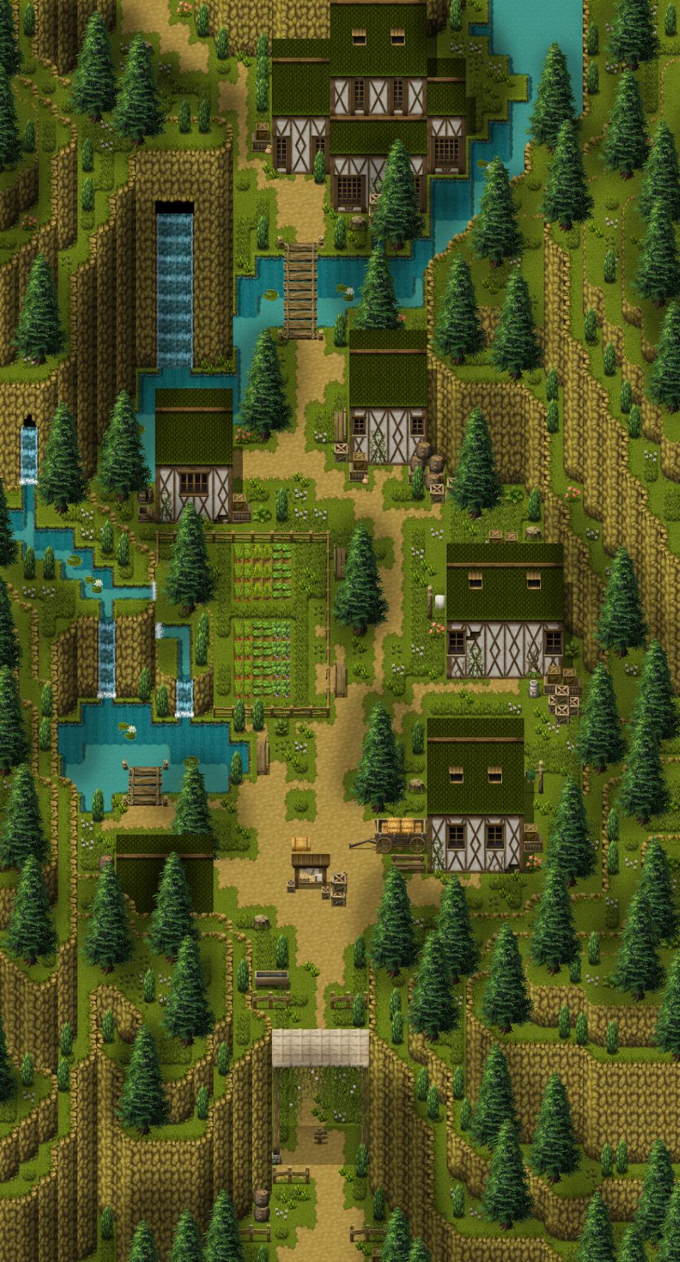 Phantasia 6 Images :: Remade map of Demi-human village
