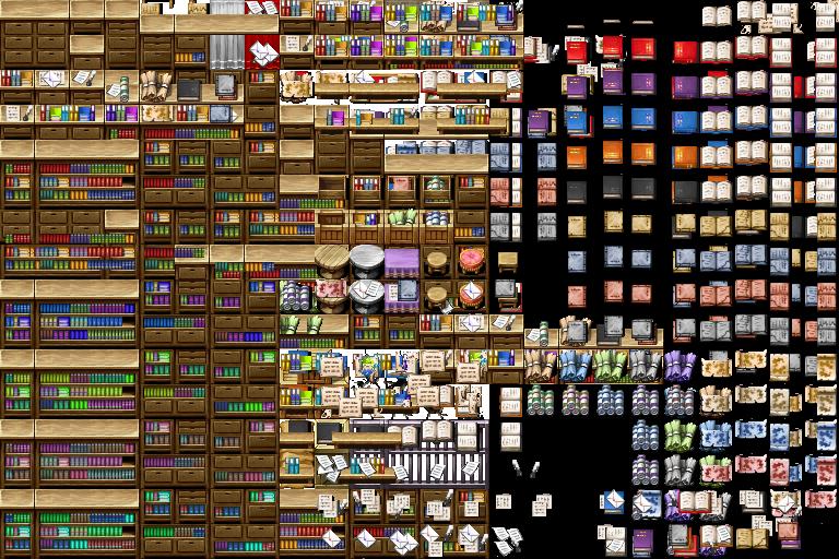 attic library ideas - Tileset per edificio Richiesta risorse grafiche VX