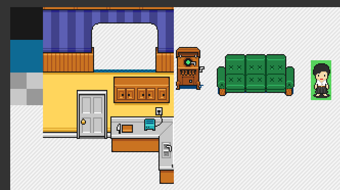Slices of pizza topic for Apartment 412 rpg maker