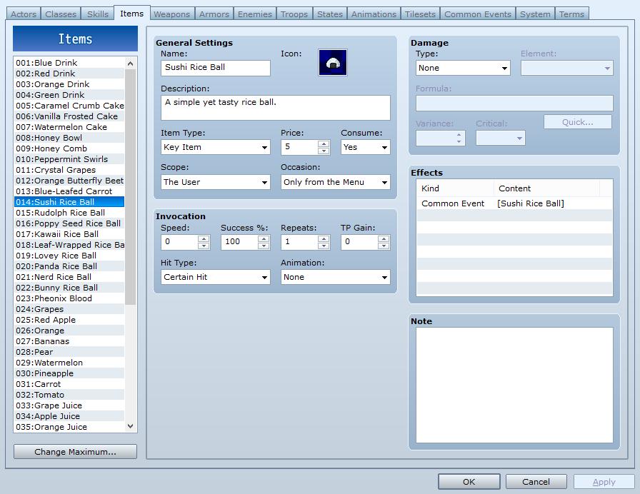 Rpg maker mv script call common event | Skill with Common