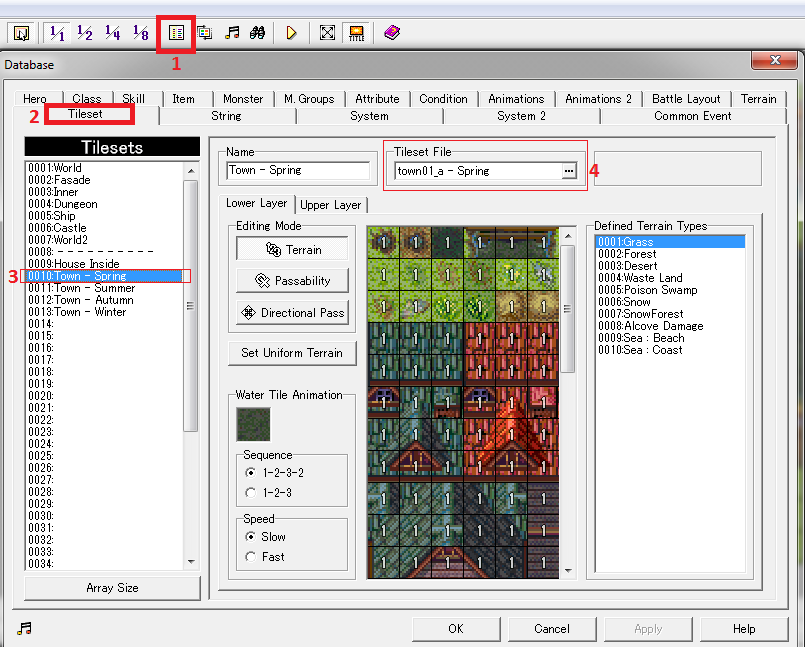 how to use own tiles in rpgmaker