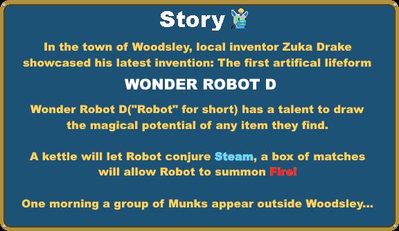 Wonder Robot D, an indie Adventure RPG game for RPG Maker MV